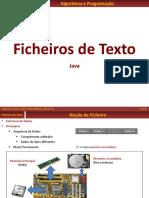 FICHEIROS de TEXTO - Java