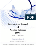 International Journal of Applied Sciences (IJAS),Volume (1)