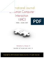 International Journal of Human Computer Interaction (IJHCI), Volume (1), Issue (3)