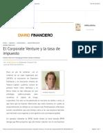 El Corporate Venture y la tasa de impuesto - Diario Financiero