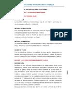 ESP. TECNICAS  DE  INSTALACIONES SANITARIAS