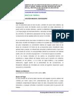 ESPECIFICACIONES TECNICAS CANAL DE EVACUACION DE AGUA DE LLUVIA