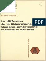 Sylvia Molloy, La difusión de la littérature hispano-américaine en France au XX siècle.
