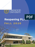 Oakwood University Reopening Plan fall 2020