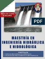 MAESTRÍA EN INGENIERÍA HIDRÁULICA E HIDROLÓGICA 25.06.2020