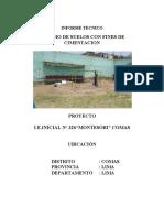 ESTUDIO DE SUELO EN COMAS