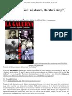 """""""Auge de un género_ los diarios, literatura del yo"""","""