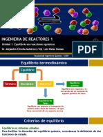 1. Equilibrio en reacciones químicas