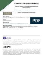 BARTHELMESS, E - As relações Brasil Argentina Iguaçu 2016
