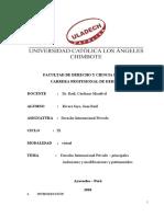 Derecho Internacional Privado inclusiones y modificaciones generales