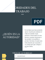 AUTORIDADES DEL TRABAJO