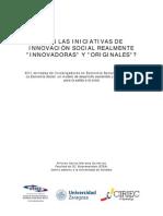 Originalidad de la Innovación Social (Ponencia, 2010)