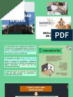 CONFORMIDAD DE OBRA Y DECLARATORIA DE FABRICA