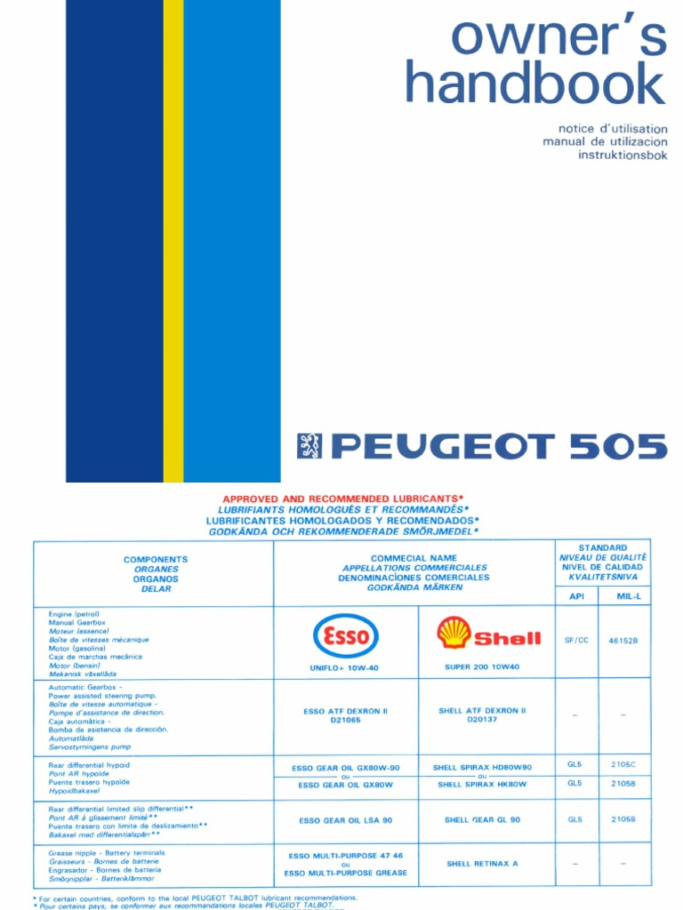 peugeot 505 owner s manual om rh scribd com