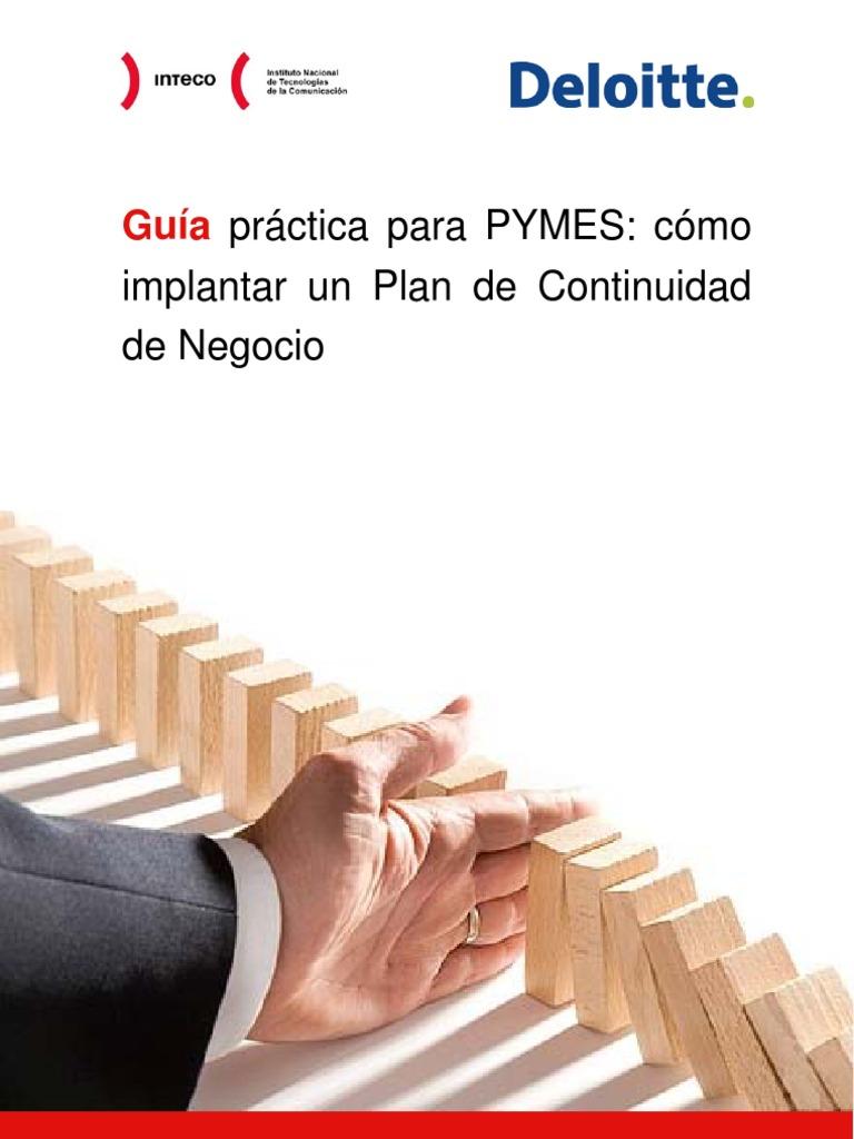 Guia práctica para PYMES: cómo implantar un Plan de Continuidad de ...