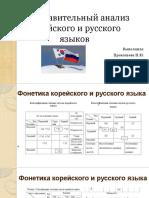 Презентация Корейский и русский