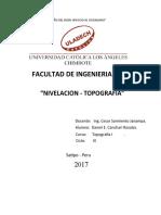 Monografia sobre Nivelacion - Topografia