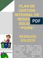 CAPACITACION MANEJO DE RESIDUOS SOLIDOS PGIRS