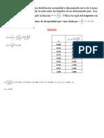 Los economistas utilizan una distribución acumulativa denominada curva de Lorenz para medir la distribución de la renta entre las familias de un determinado país.docx