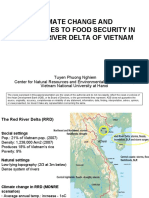 How climate change challenges food security in the Red River delta of Northern Viet Nam - presentation
