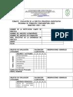Formato Evaluación de La p p i. 0 y i . Trabajo en Casa