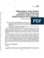 Obtaining and Using Statistical Process Control Limits in the Semiconductor Industry