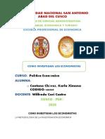 Como investiga los economistas por Karla Centeno.docx