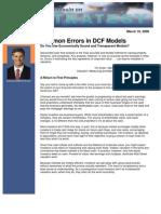 Common Errors in DCF Models