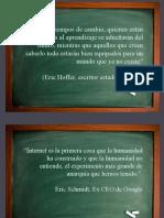 Frases sobre Educación, Internet y Tecnología para comenzar una clase
