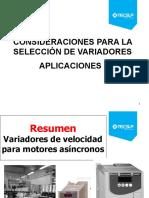 CONSIDERACIONES PARA LA SELECCIÓN DE VARIADORES DE VELOCIDAD 2020.pptx