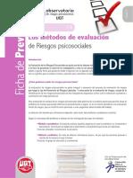 UGT - Ficha de Prevención 14 - Métodos de Evaluación de Riesgos Psicosociales