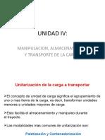 UNIDAD IV Unitarizacion de la carga, almacenamiento y distribucion fisica-1