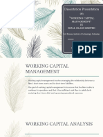 Working capital  Management by zahid