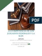 LA COMPETENCIA DE LOS JUZGADOS FEDERALES Y LA SCJN