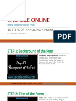 15 Steps of Analysing a Poem