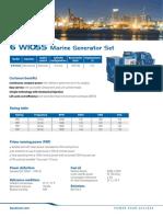 Baudouin GEB6W105S Marine Generating Set