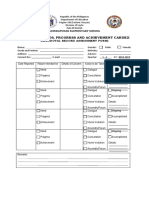 Learner's Needs, Progress And Achievement Cardex (Anecdotal Record Assessment Form) by Teacher Pinky Ragrag Jandoc