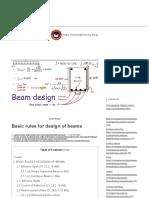 Basic rules for design of beams _ Civilengineering subject Tutorial
