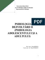1. Suport de curs - Psihologia dezvoltarii II(1)