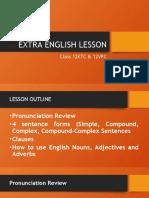EXTRA ENGLISH LESSON