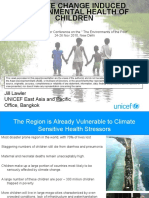 Climate change induced environmental health of children - presentation