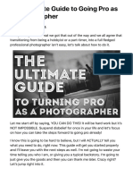 ultimate guide to going pro as a photographer
