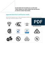 APPROVED ELECTRICAL MARKS.