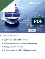 14-Ship efficiency seminar - CMA CGM- HydrOcean 1. CMA