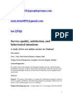 Service quality in airline
