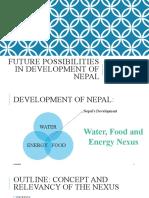 Future possibilities in development of Nepal