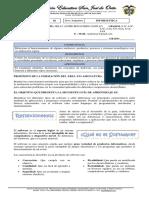 SEGUNDA GUIA DE TECNOLOGIA E INFORMATICA EN CUARENTENA