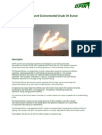 The Derwent Burner Specifications