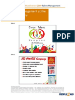 Global Talent Management at the Coca-Cola Company