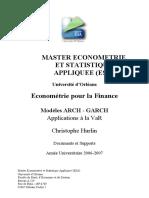 Econometrie Pour La Finance